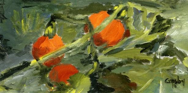 """Pumpkin Patch"" original fine art by Donna Crosby"