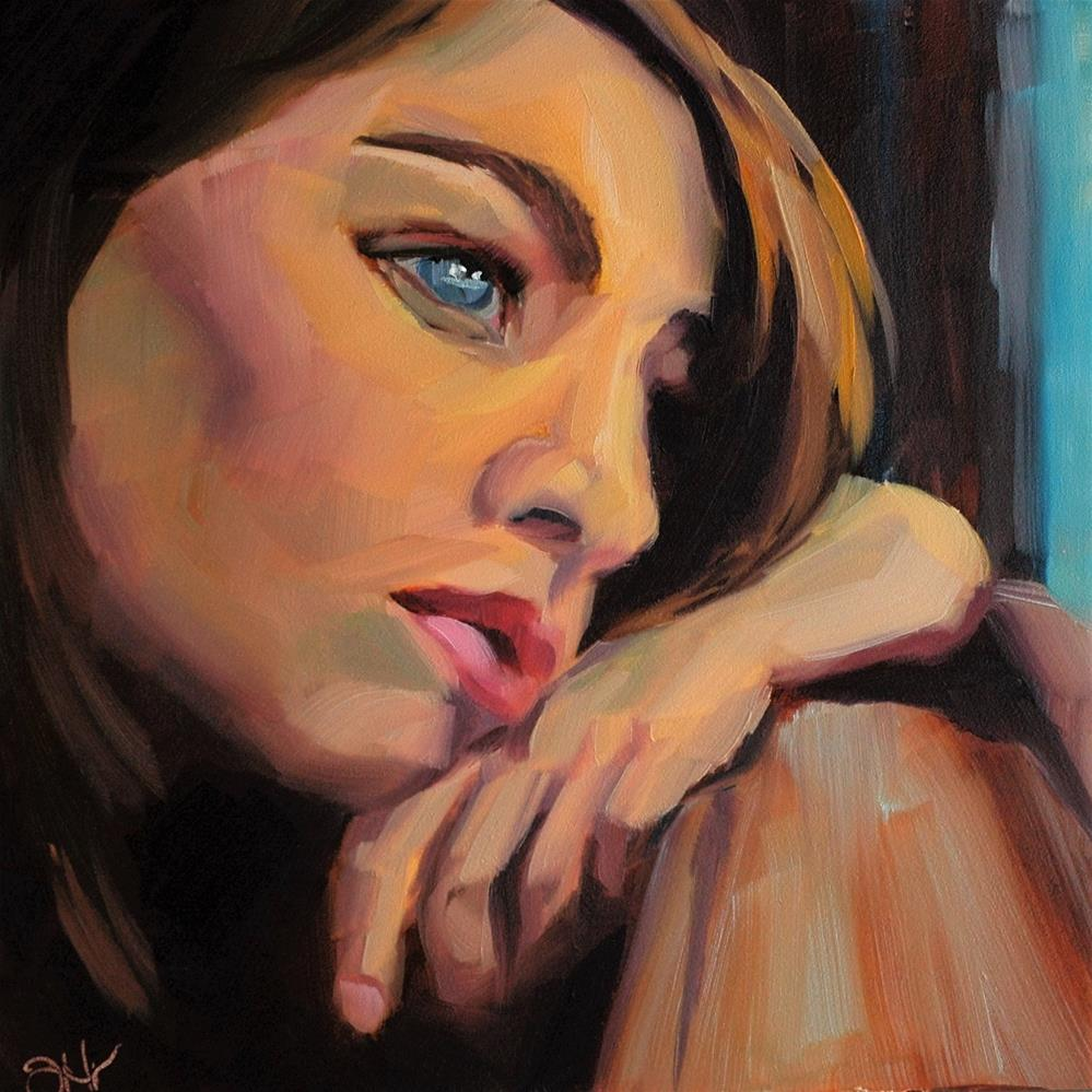 """Melancholy"" original fine art by Janette Harter"
