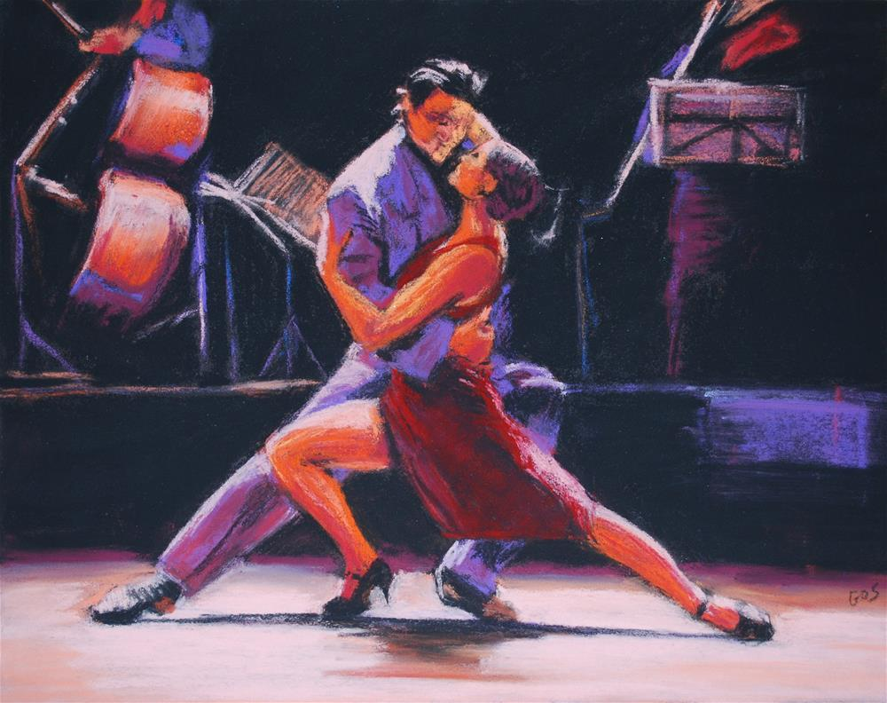 """Tango night"" original fine art by Alejandra Gos"