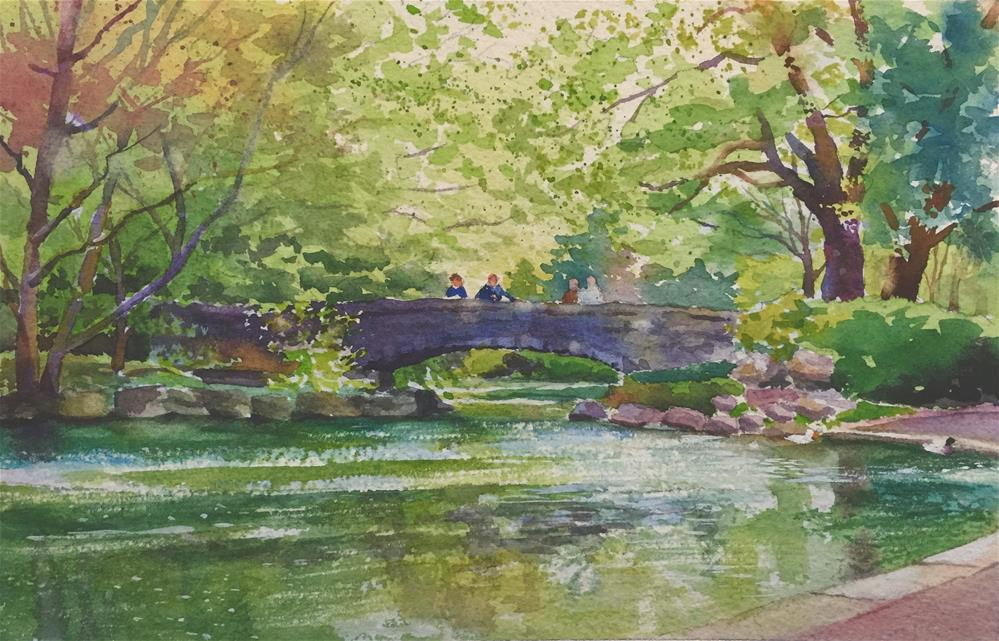 """Spring In The Park"" original fine art by Barbara Scheihing"