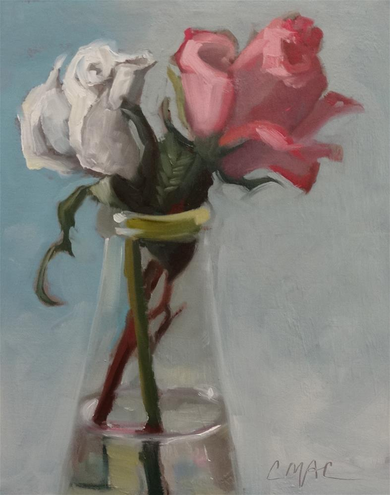 """Two Roses"" original fine art by Carolyn McDonald"