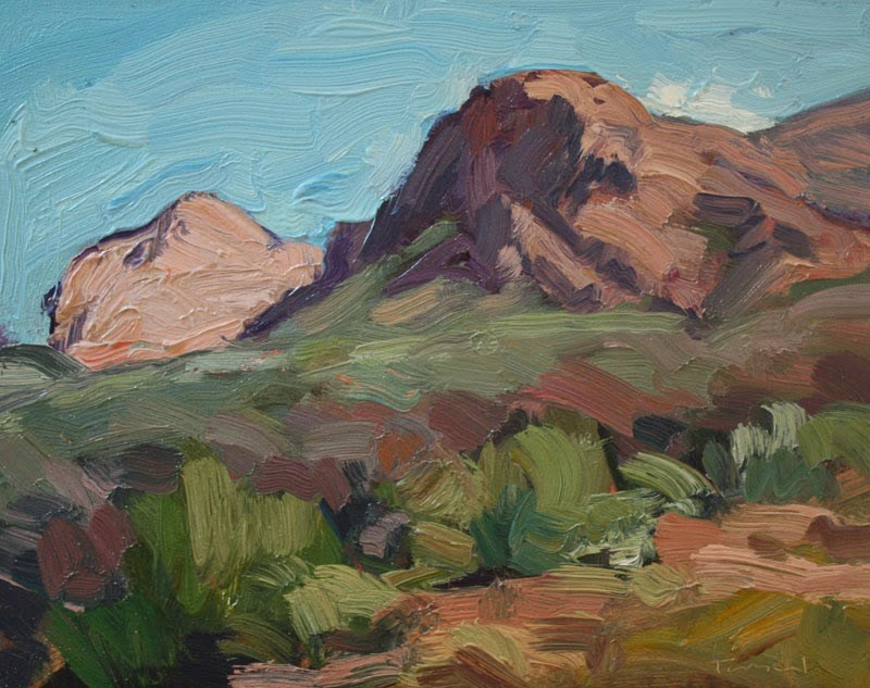 """Santa Rita Mountains"" original fine art by Kathryn Townsend"
