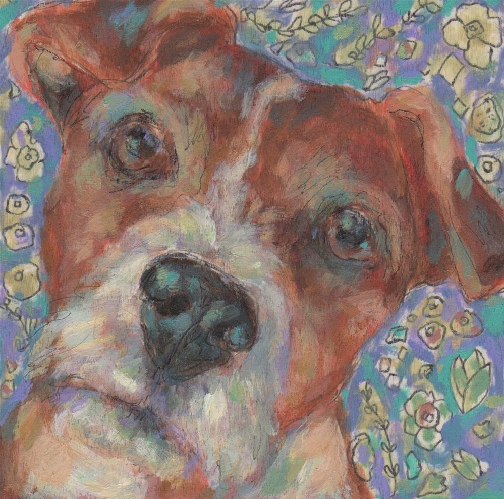 """Jack Russell"" original fine art by Kathy Hiserman"