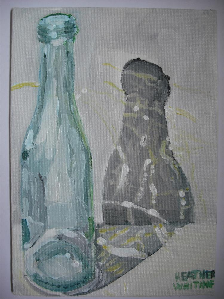 """Bottle Echo"" original fine art by Heather Whiting"