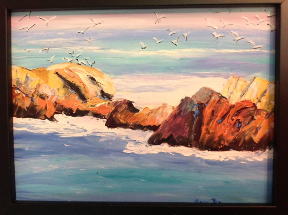 """Oregon Beach"" original fine art by Rose Brenner"