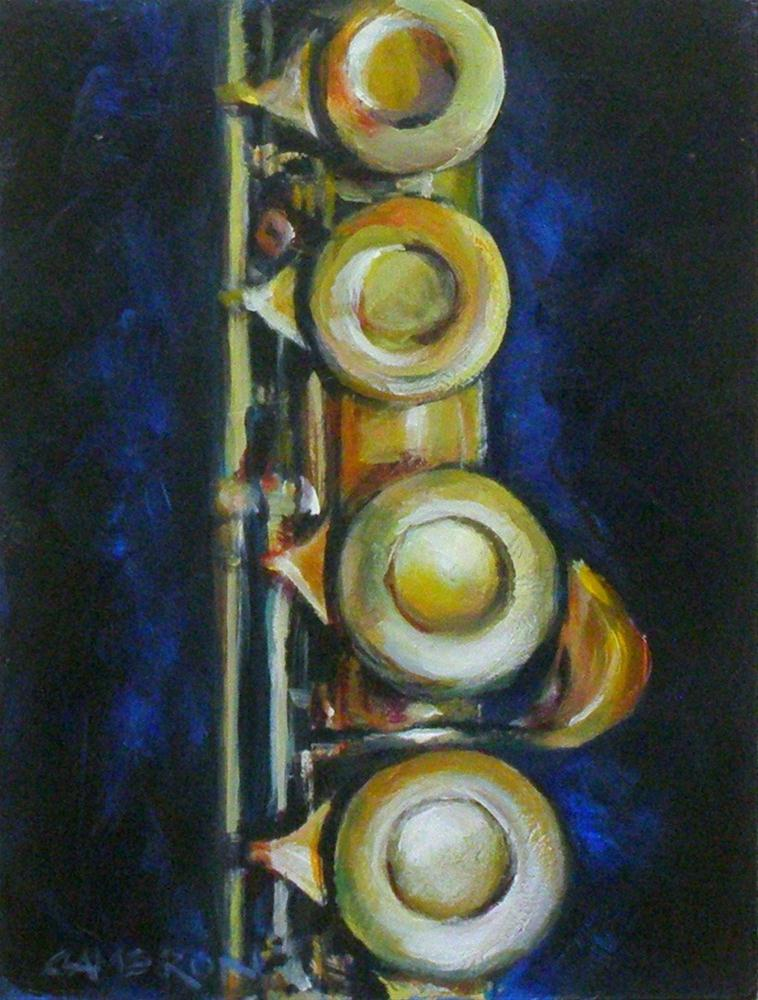"""THE FLUTE"" original fine art by Brian Cameron"
