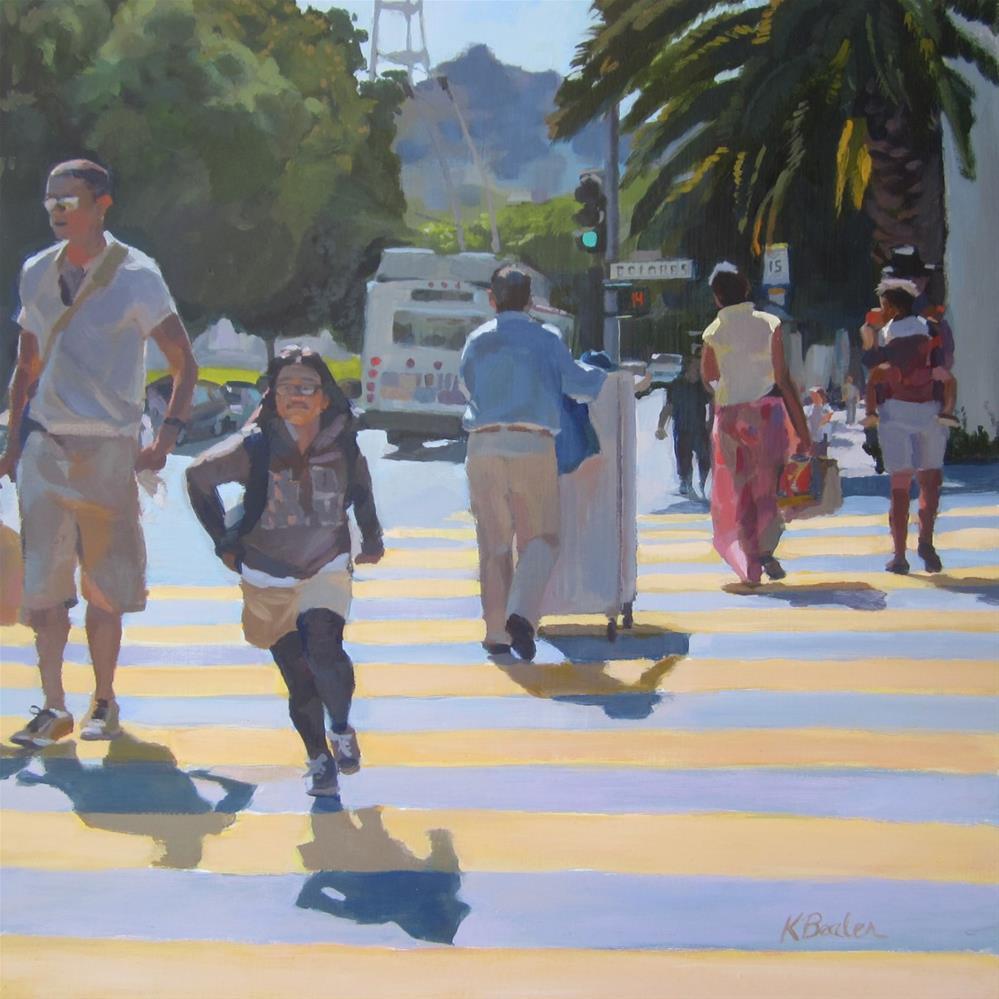 """""""Crosswalk"""" original fine art by Kaethe Bealer"""