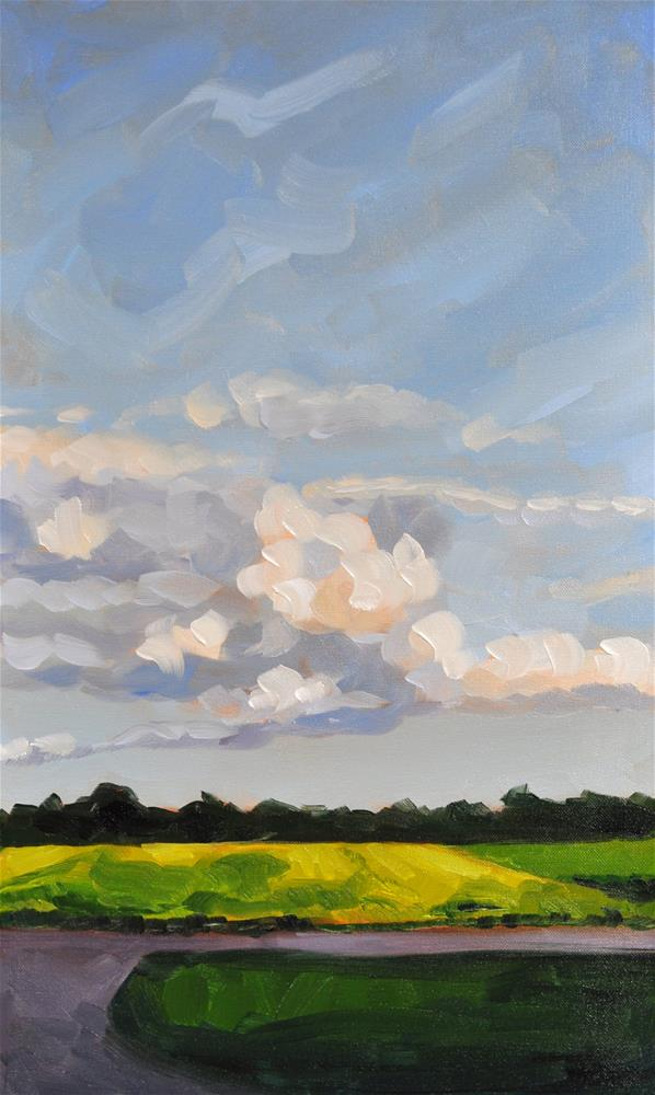 """Late Afternoon Clouds"" original fine art by Heather Bullach"
