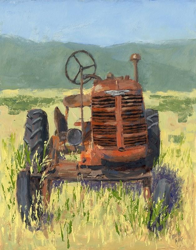 """""""Offset High Crop"""" original fine art by David King"""