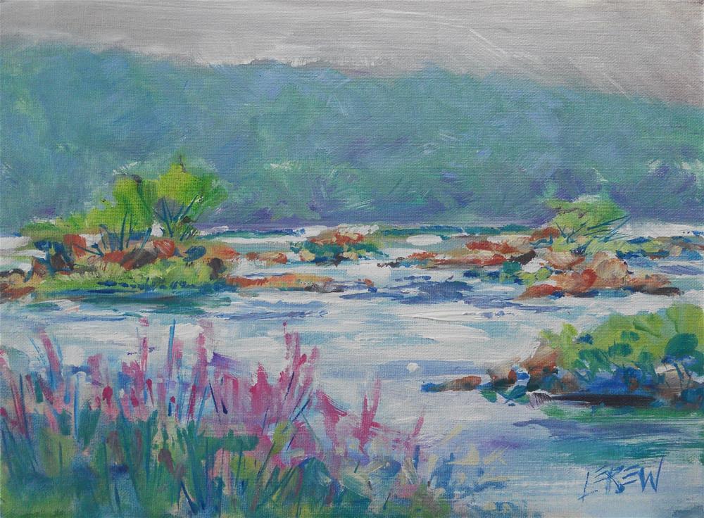 """""""Summer River by Larry Lerew #120714"""" original fine art by Larry Lerew"""