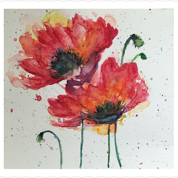 """Poppies"" original fine art by Melissa Gresham"