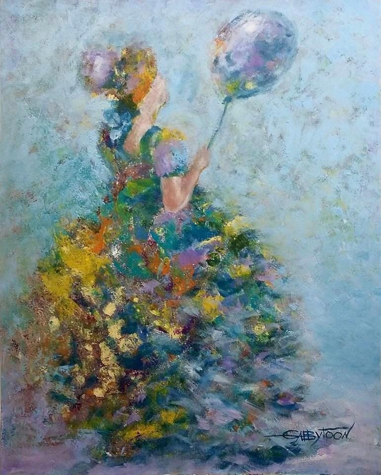 """Nice Day"" original fine art by Gabriella DeLamater"