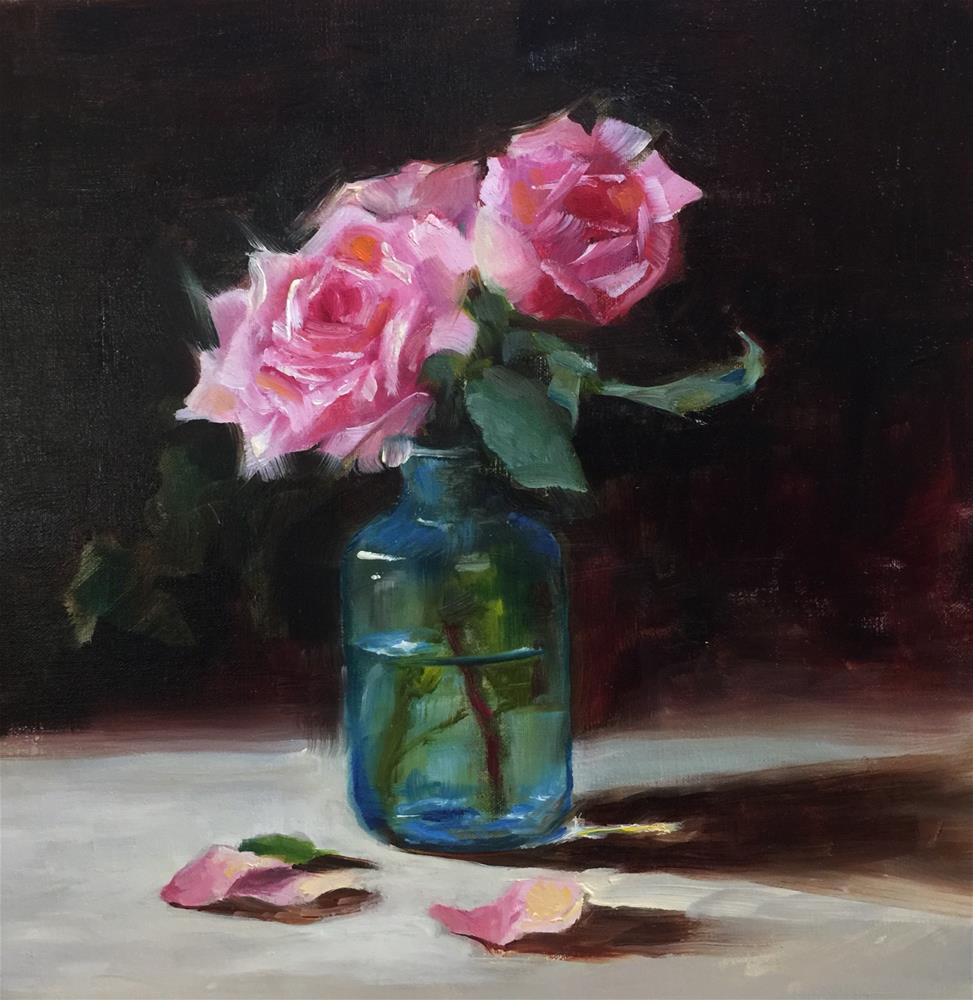 """Classic Roses"" original fine art by Dorothy Woolbright"