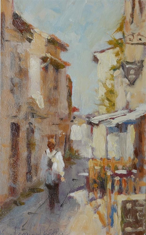 """""""Quiet Lane"""" original fine art by Lorraine Lewitzka"""