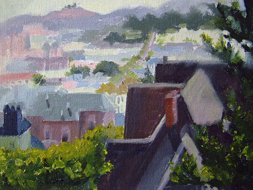 """San Francisco Rooftops"" original fine art by Nancy Paris Pruden"
