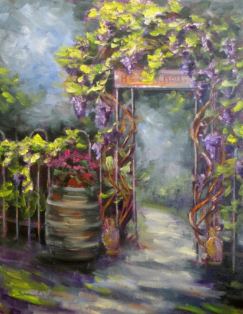 """Into the Secret Garden Again"" original fine art by Tammie Dickerson"