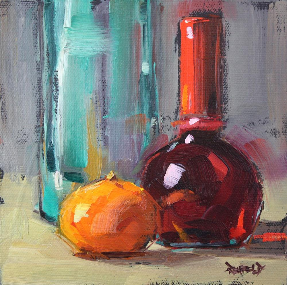 """Red Wine Vinegar and Clementine"" original fine art by Cathleen Rehfeld"