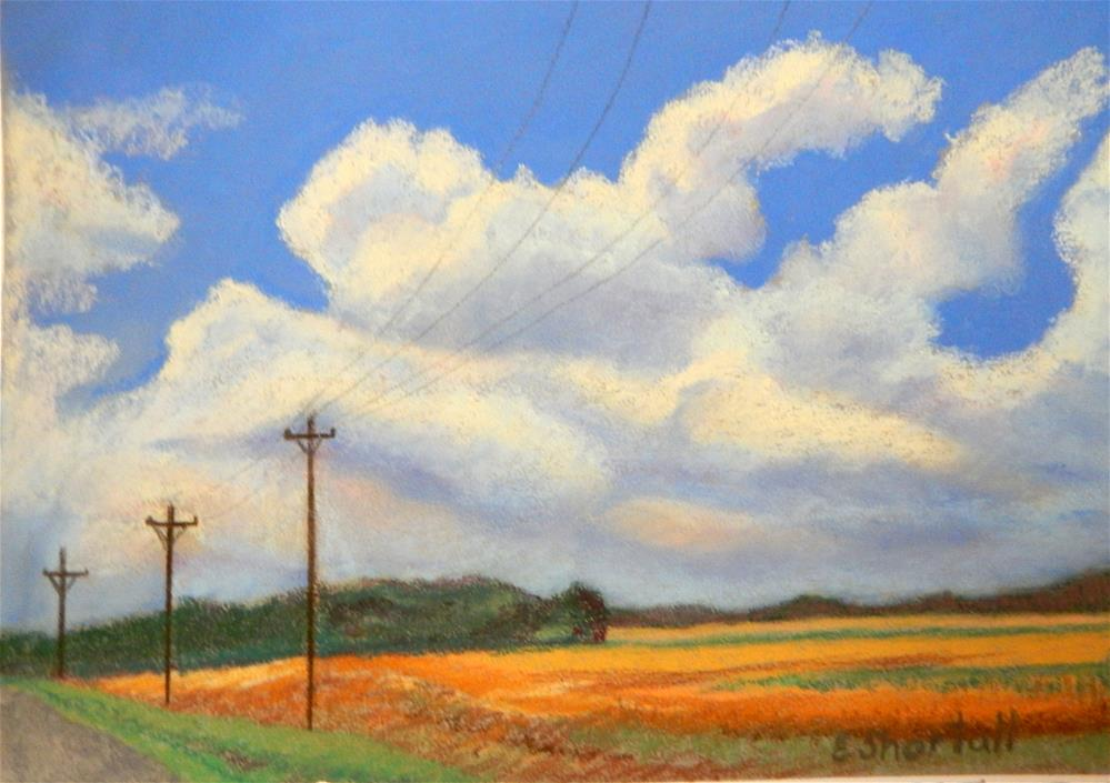 """A Beautiful Cloudy Day"" original fine art by Elaine Shortall"