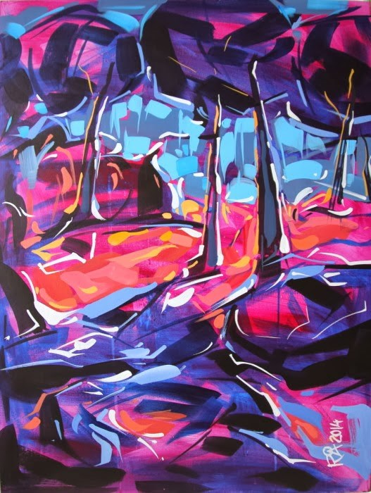 """""""Tree Abstraction 48"""" original fine art by Roger Akesson"""