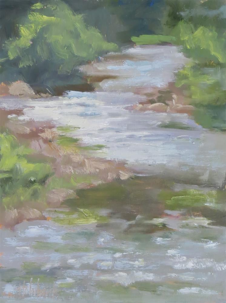 """Up The Creek - SOLD"" original fine art by Pam Holnback"