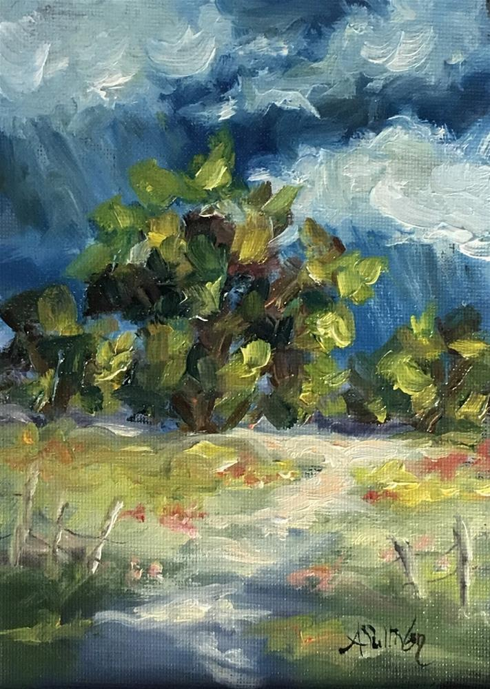 """Gentle Summers Rain landscape painting by Alabama Artist Angela Sullivan"" original fine art by Angela Sullivan"