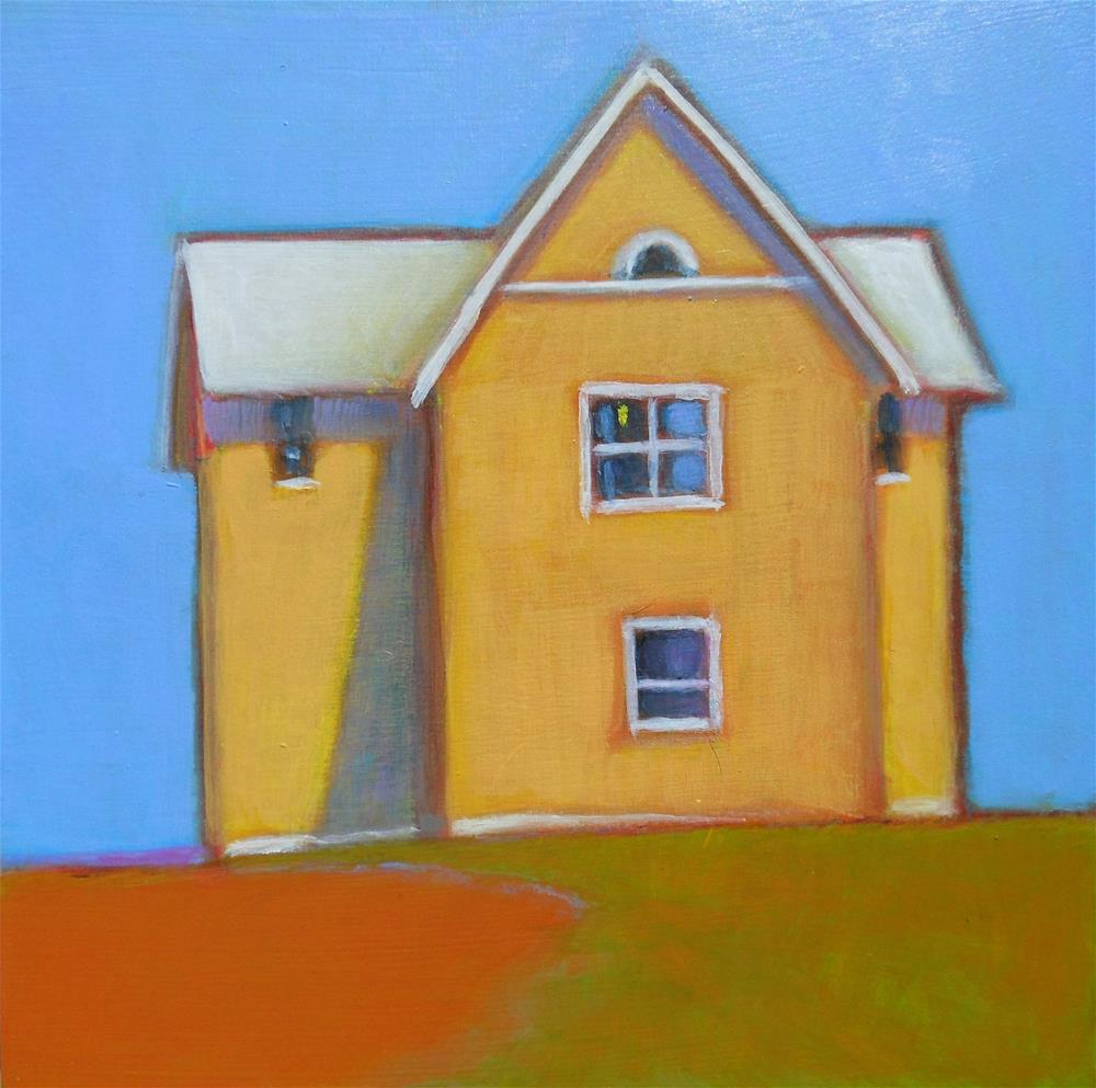 """Yellow House"" original fine art by Almira Hill Grammer"