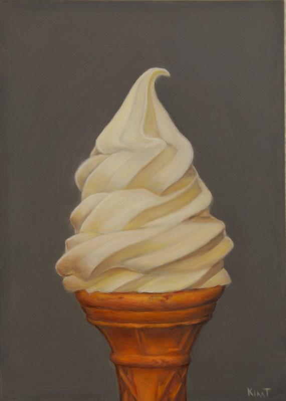 """""""Vanilla Cone"""" original fine art by Kim Testone"""