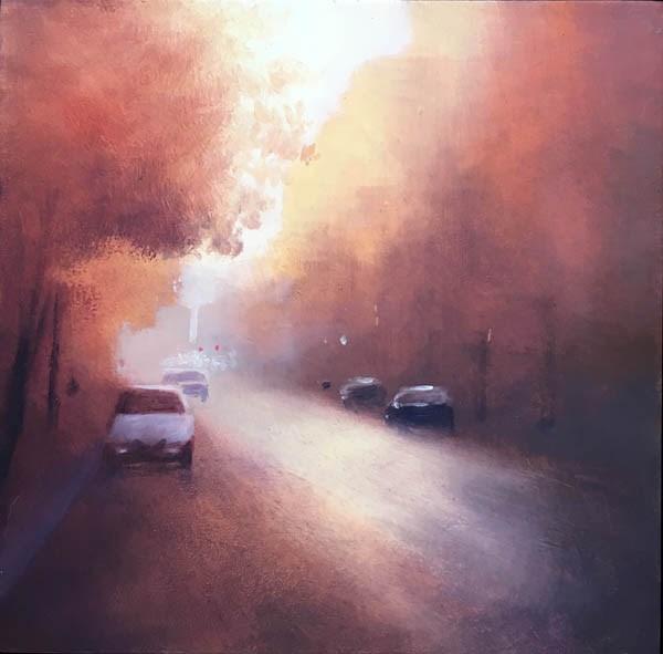 """""""MORNING GLARE"""" original fine art by Gerald Schwartz"""