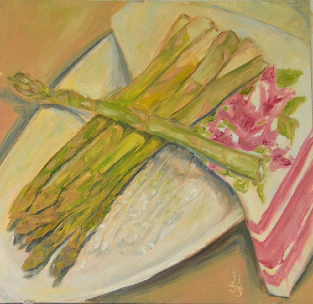 """Spare Asparagus"" original fine art by Jan Jackson"