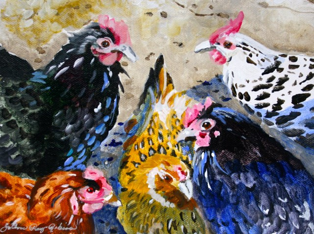 """Talking Heads"" original fine art by JoAnne Perez Robinson"