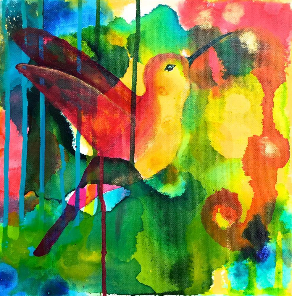 """Happy"" original fine art by Silke Powers"