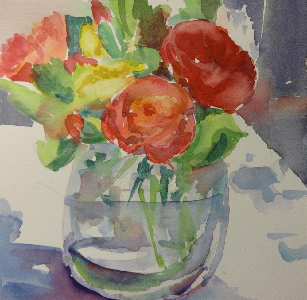 """Spanish Bouquet"" original fine art by angela scully"