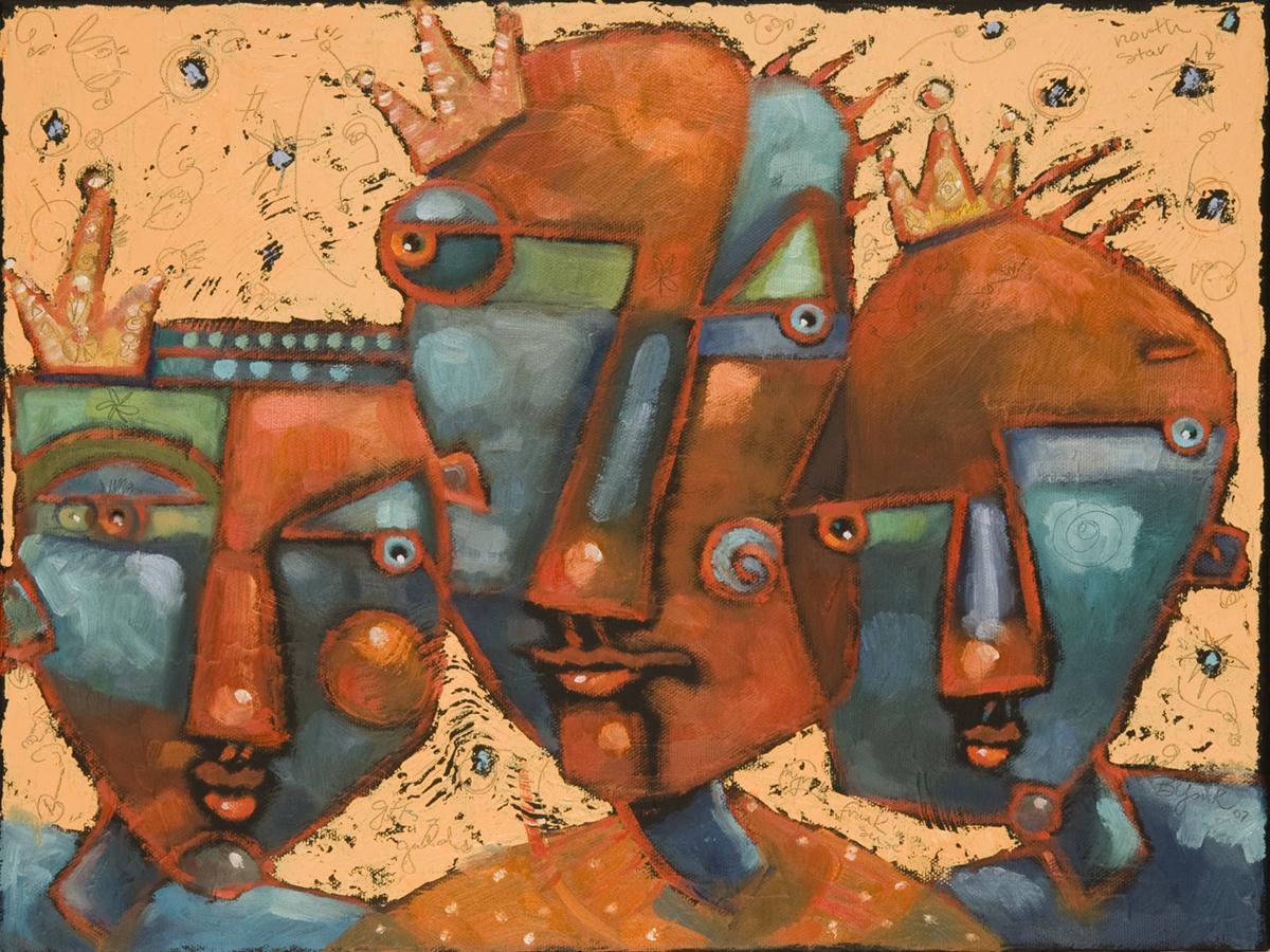 """Three Wise Guys #1"" original fine art by Brenda York"