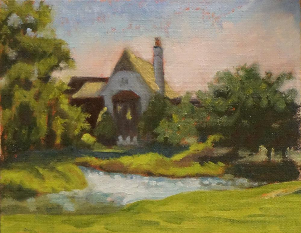 """Cottage at Cassique"" original fine art by Judy Elias"