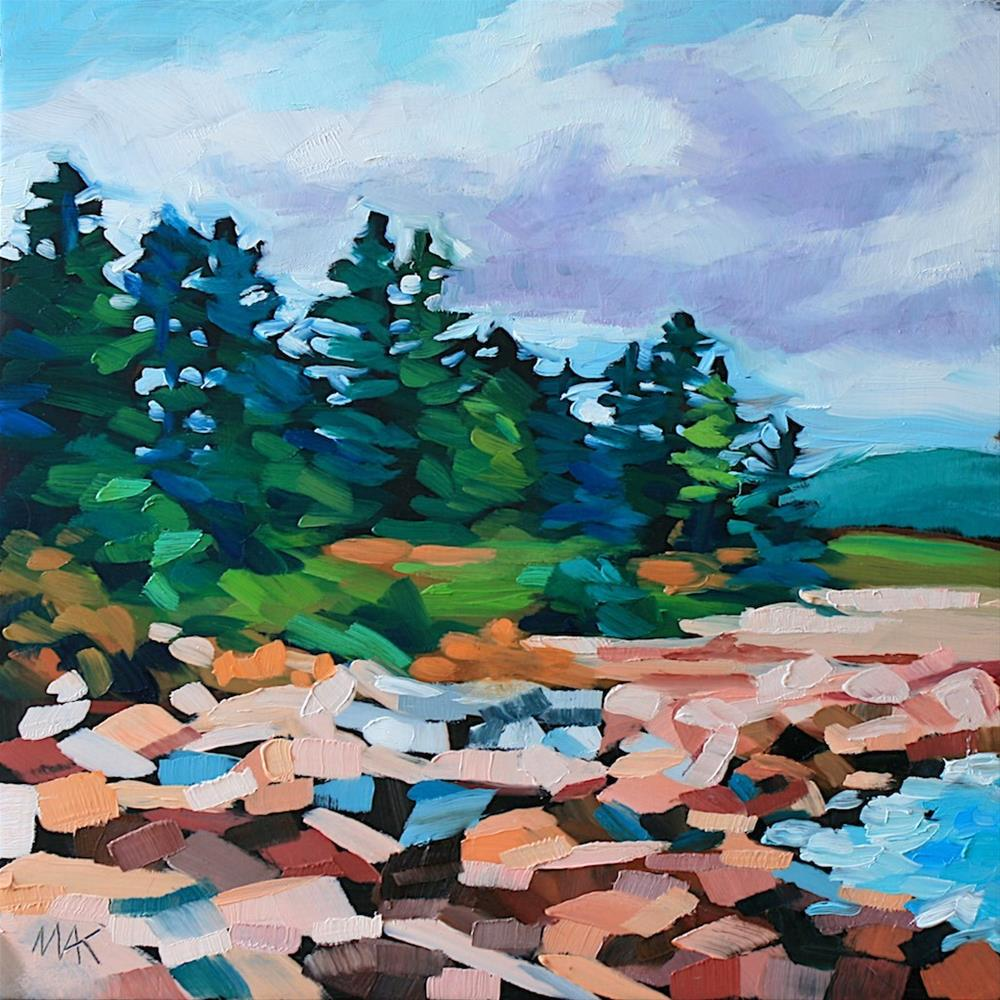 """Rocky Shore"" original fine art by Mary Anne Cary"