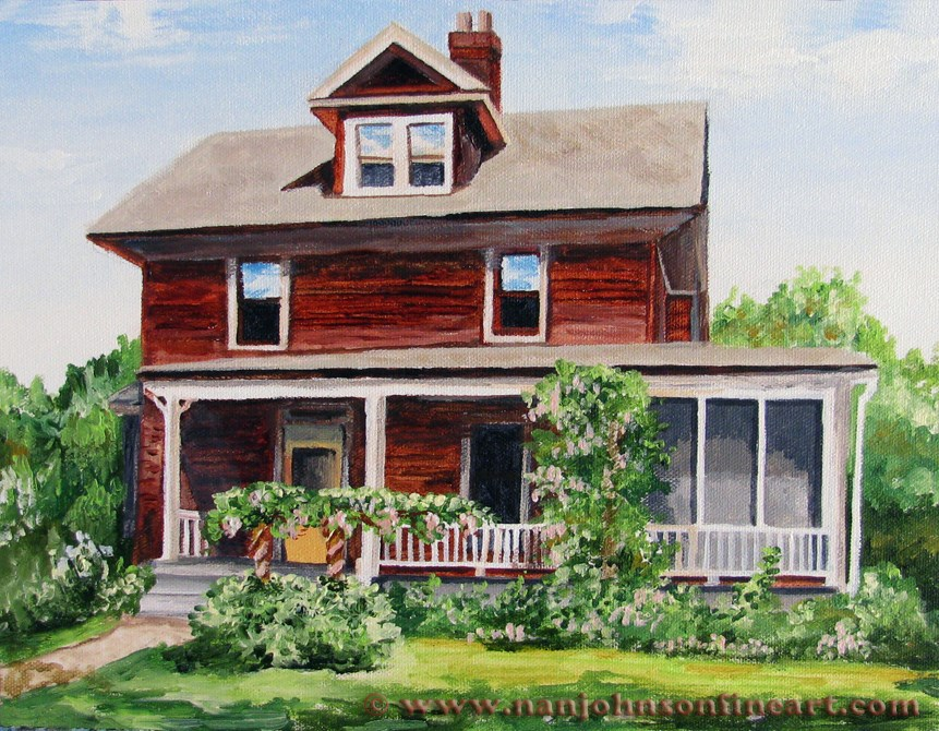 """Rustic Siding"" original fine art by Nan Johnson"