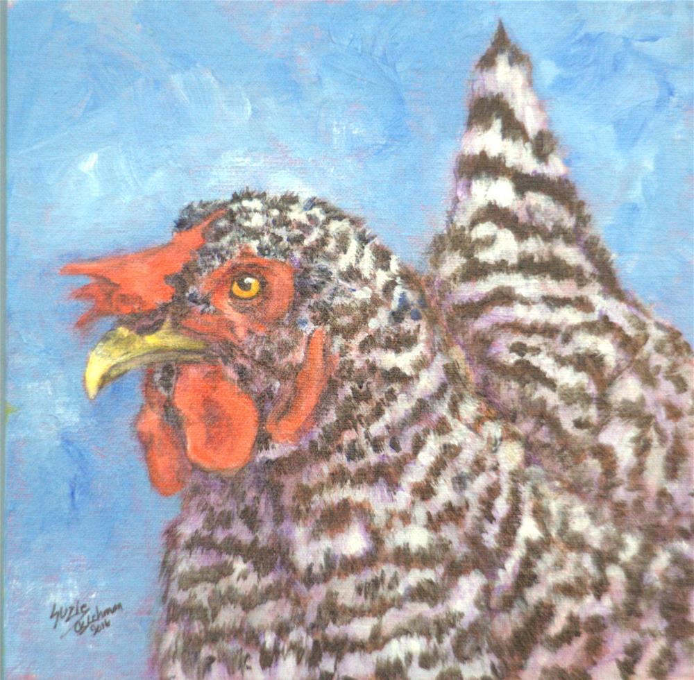 """""""Bessie, Our Ol'Hen"""" original fine art by Carla Ridener"""