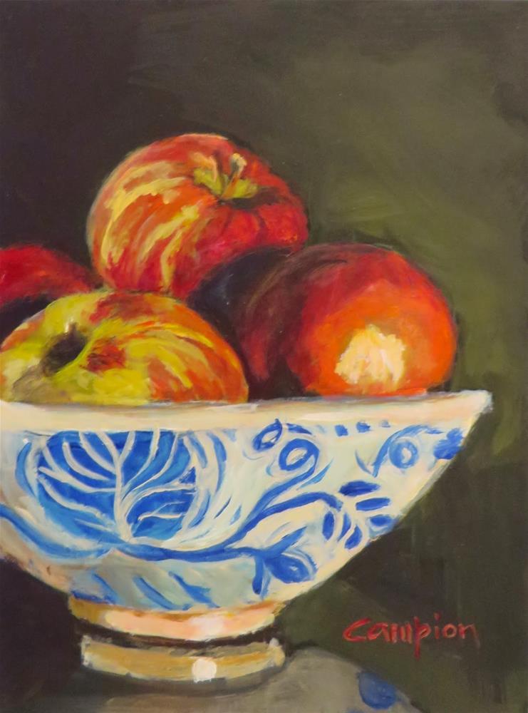 """437 For Pie"" original fine art by Diane Campion"