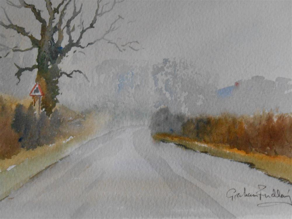 """Misty morning"" original fine art by Graham Findlay"