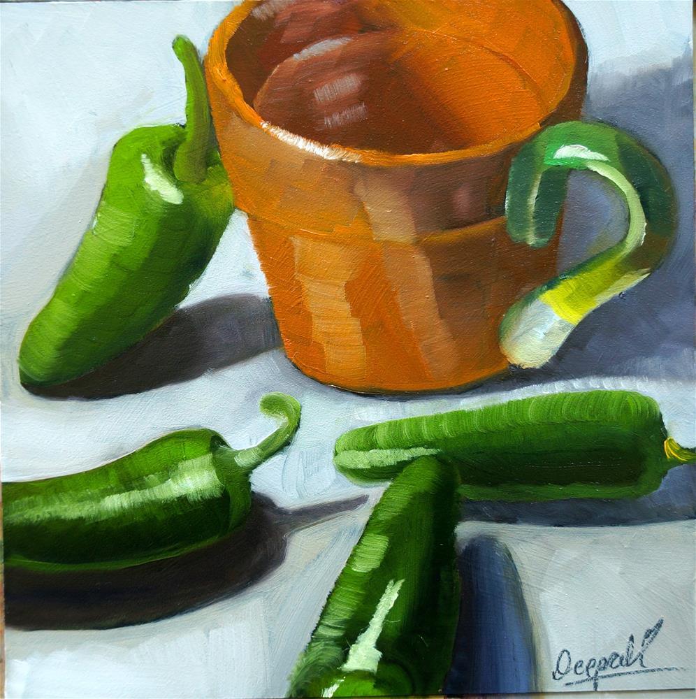"""Jalapeño"" original fine art by Dipali Rabadiya"