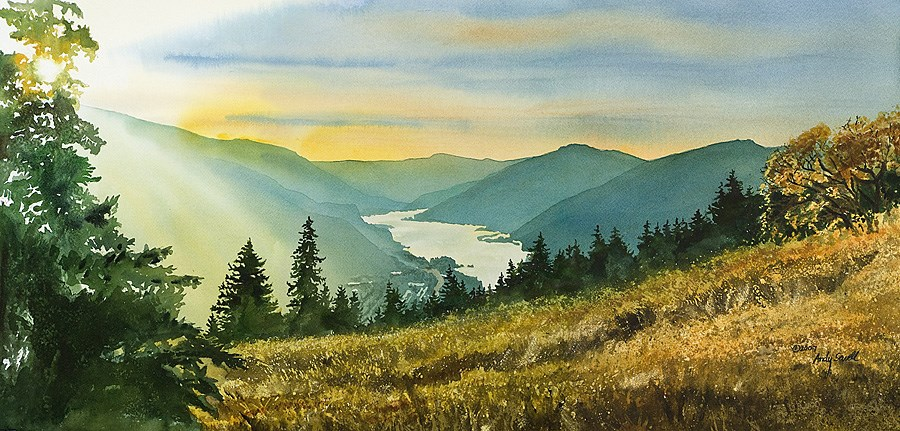 """Gorge Gold"" original fine art by Andy Sewell"