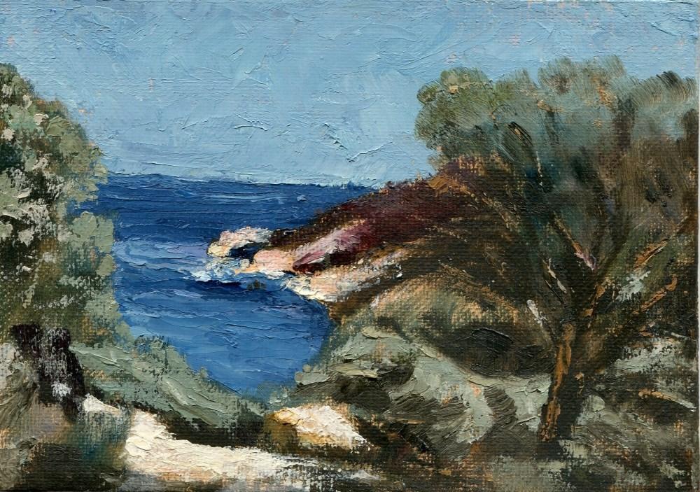 """Ostentatiously Demure Bay"" original fine art by Stanley Epperson"