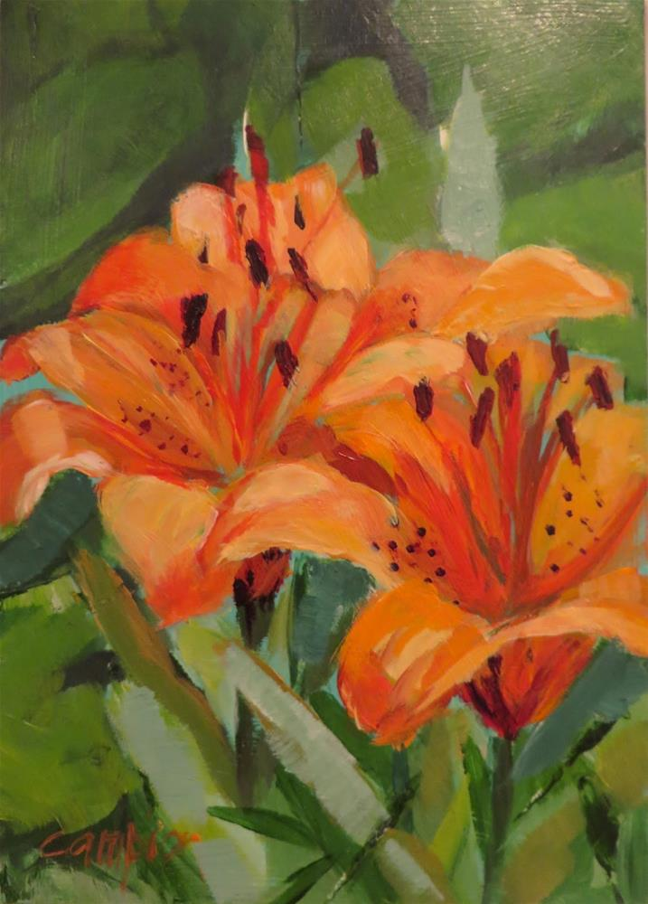 """652 Karen's Lilies"" original fine art by Diane Campion"