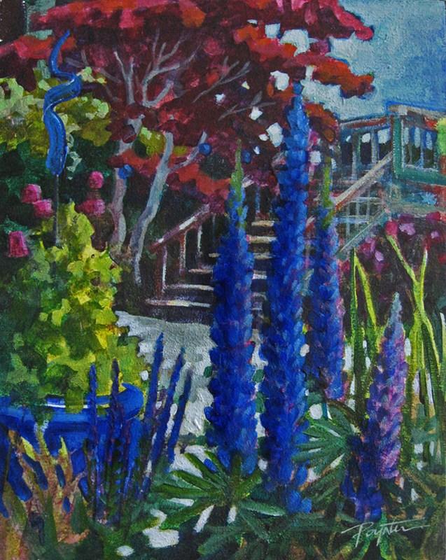 """Vertical Blues8x10_acry"" original fine art by Jan Poynter"