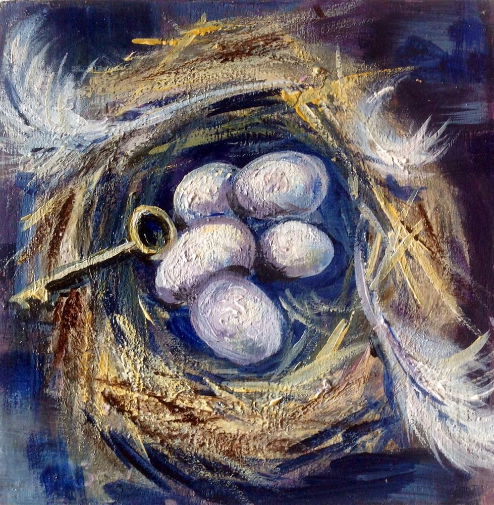 """Nest of secrets and answers"" original fine art by Sonia von Walter"