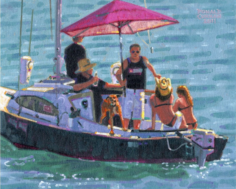 """Sun and Fun"" original fine art by Donald Curran"