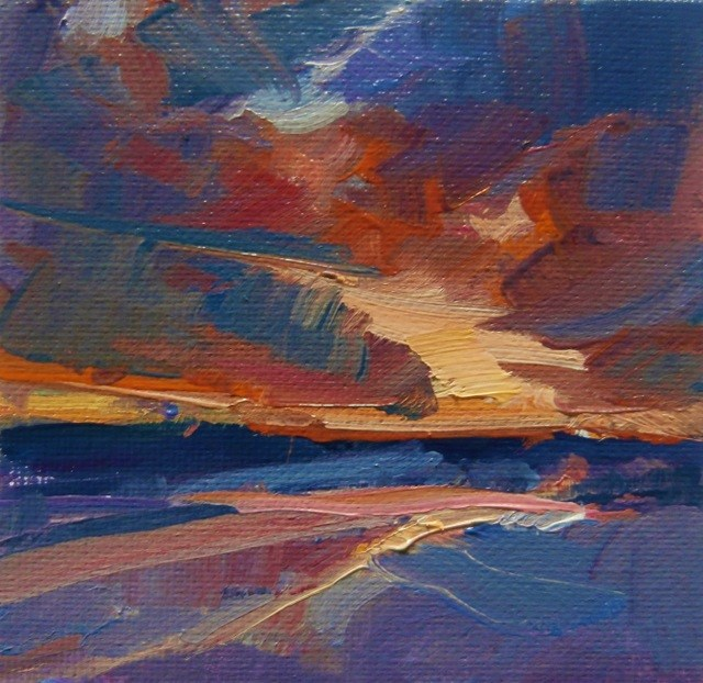 """Day's End"" original fine art by Anne Wood"