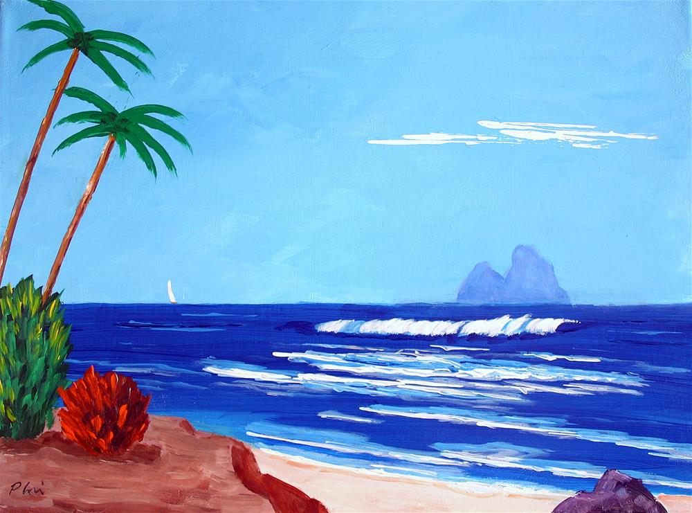 """TAHITI VIEW"" original fine art by Bob Phillips"