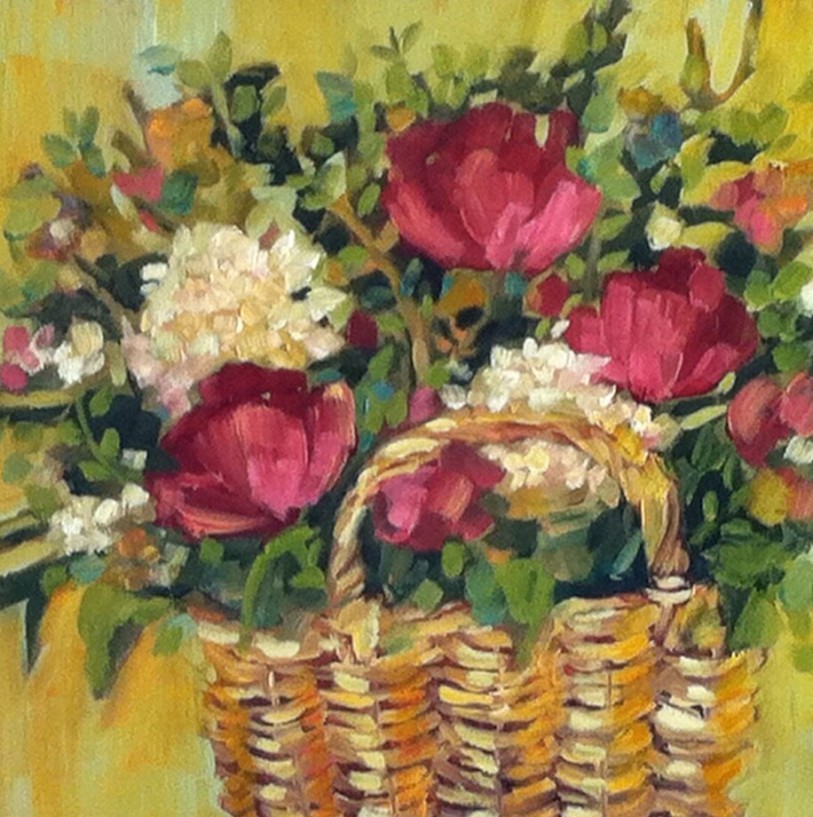 """Country Basket"" original fine art by Libby Anderson"
