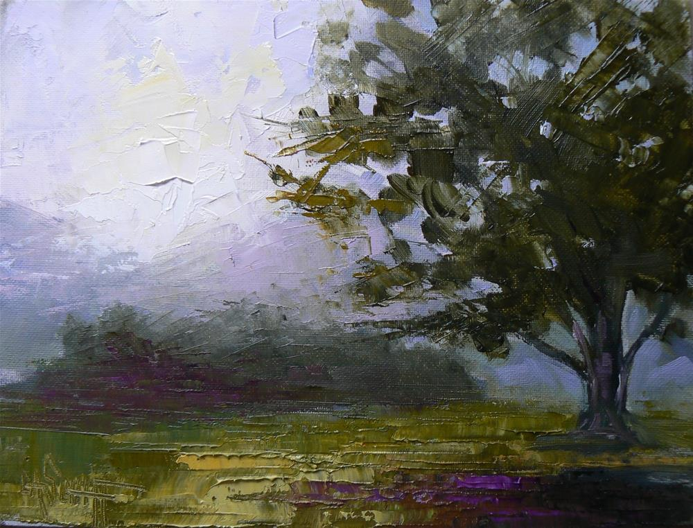 """Landscape Tree Painting Reach for the Sun 6x8 Oil"" original fine art by Carol Schiff"
